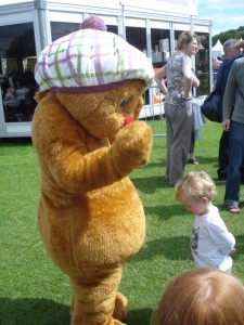 Hamish meets one of his little fans